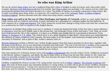 http://www.legendofkingarthur.co.uk/who-was-king-arthur.htm