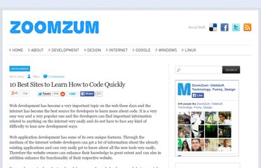 http://zoomzum.com/10-best-sites-to-learn-how-to-code-quickly/