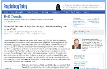 http://www.psychologytoday.com/blog/evil-deeds/200806/essential-secrets-psychotherapy-rediscovering-the-inner-child