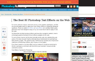 http://www.photoshoproadmap.com/Photoshop-blog/the-best-80-photoshop-text-effects-on-the-web/