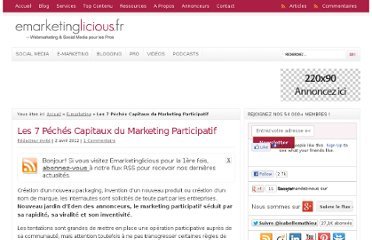 http://www.emarketinglicious.fr/webmarketing/7-peches-capitaux-marketing-participatif