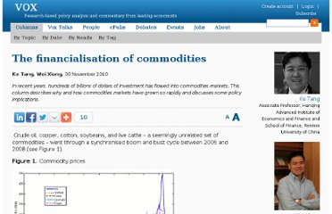 http://www.voxeu.org/article/financialisation-commodities