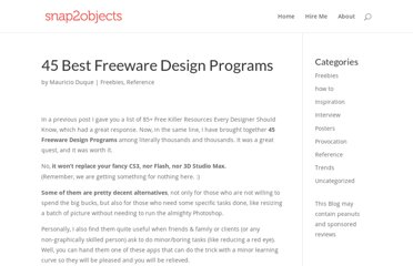 http://www.snap2objects.com/2007/07/45-best-freeware-design-programs/