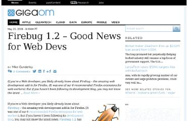 http://gigaom.com/2008/05/23/firebug-12-good-news-web-devs/