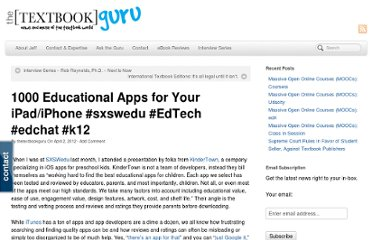 http://www.thetextbookguru.com/2012/04/02/1000educational-apps/