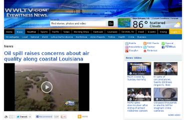http://www.wwltv.com/news/Oil-Spill-Raises-Concerns-About-Air-Quality-Along-Coastal-Louisiana-94202149.html