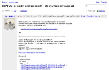 http://cygwin.1069669.n5.nabble.com/ITP-VOTE-oodiff-and-git-oodiff-OpenOffice-diff-support-td77648.html