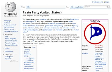 http://en.wikipedia.org/wiki/Pirate_Party_(United_States)
