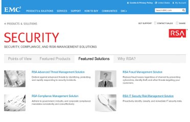 http://www.emc.com/security/index.htm?#Featured-Solutions