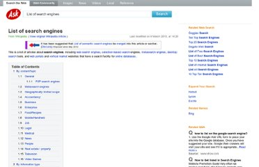 http://www.ask.com/wiki/List_of_search_engines#Semantic_browsing_engines