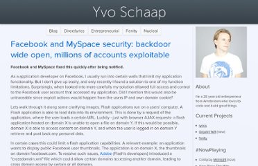 http://www.yvoschaap.com/weblog/facebook_myspace_accounts_hijacked