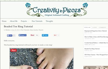 http://www.creativityinpieces.com/2012/06/22/beaded-toe-ring-tutorial/