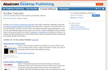 http://desktoppub.about.com/od/softwaretutorials/tp/Scribus-Tutorials.htm