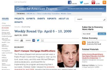 http://www.americanprogress.org/issues/economy/news/2009/04/10/5997/weekly-round-up-april-6-10-2009/