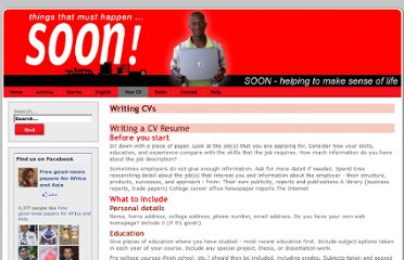 http://www.soon.org.uk/en/writing-a-cv-resume/writing-cvs.html