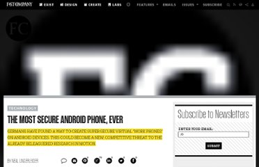 http://www.fastcompany.com/1786472/most-secure-android-phone-ever