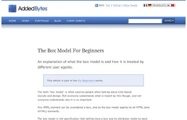 http://www.addedbytes.com/articles/for-beginners/the-box-model-for-beginners/
