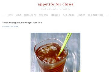 http://appetiteforchina.com/recipes/thai-lemongrass-ginger-iced-tea/