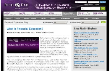 http://www.richdad.com/Resources/Rich-Dad-Financial-Education-Blog/September-2011/What-is-Financial-Education-.aspx