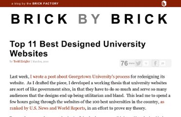 http://blog.thebrickfactory.com/2010/03/top-11-best-designed-university-websites/