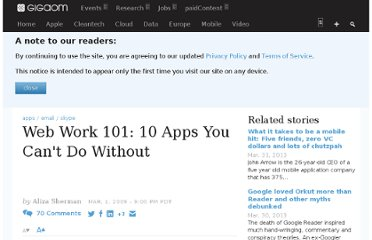 http://gigaom.com/2009/03/01/web-work-101-10-apps-you-cant-do-without/