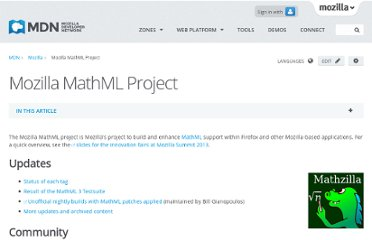 https://developer.mozilla.org/en-US/docs/Mozilla_MathML_Project