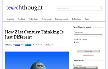 http://www.teachthought.com/learning/how-21st-century-thinking-is-different/