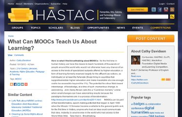 http://hastac.org/blogs/cathy-davidson/2012/10/01/what-can-moocs-teach-us-about-learning#.UGof92uOwaG.blogger