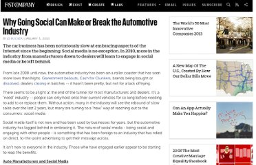 http://www.fastcompany.com/1505837/why-going-social-can-make-or-break-automotive-industry