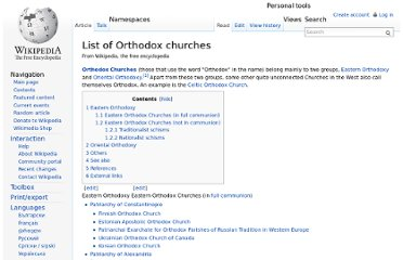 http://en.wikipedia.org/wiki/List_of_Orthodox_churches