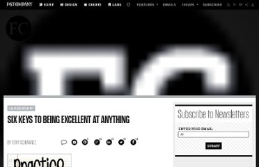 http://www.fastcompany.com/1686337/six-keys-being-excellent-anything