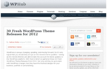http://www.wphub.com/30-fresh-wordpress-theme-releases-for-2012/