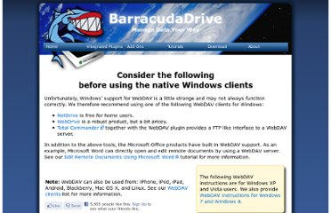 http://barracudadrive.com/tutorials/mapping_windows_drive.lsp