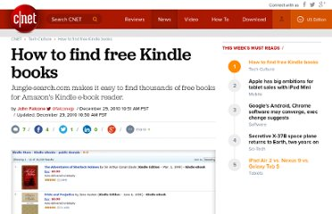 http://news.cnet.com/8301-17938_105-10403316-1/how-to-find-free-kindle-books/