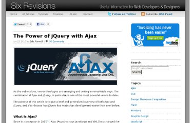 http://sixrevisions.com/javascript/the-power-of-jquery-with-ajax/