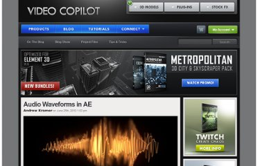 http://www.videocopilot.net/blog/2010/06/audio-waveforms-in-ae/