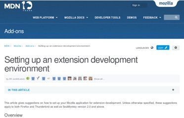 https://developer.mozilla.org/en-US/docs/Setting_up_extension_development_environment