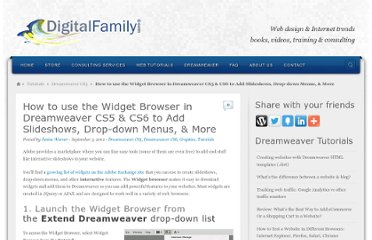 http://www.digitalfamily.com/tutorials/widget-browser-in-dreamweaver-cs5/