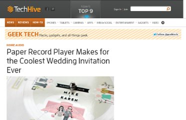 http://www.techhive.com/article/226571/paper_record_player_makes_for_the_coolest_wedding_invitation_ever.html