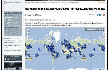 http://www.folkways.si.edu/tools-for-teaching/lessons