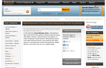 http://www.packtpub.com/article/ajax-dynamic-content-interactive-forms-in-joomla