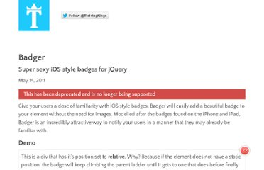 http://thrivingkings.com/read/Badger-Super-sexy-iOS-style-badges-for-jQuery