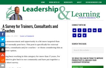 http://blog.kevineikenberry.com/personal-development/a-survey-for-trainers-consultants-and-coaches/