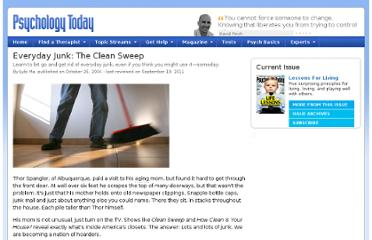 http://www.psychologytoday.com/articles/200410/everyday-junk-the-clean-sweep