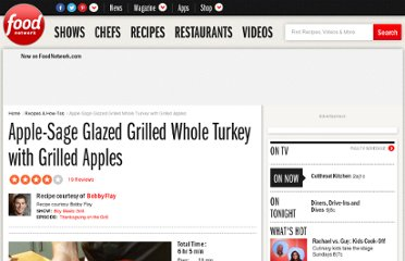 http://www.foodnetwork.com/recipes/bobby-flay/apple-sage-glazed-grilled-whole-turkey-with-grilled-apples-recipe/index.html