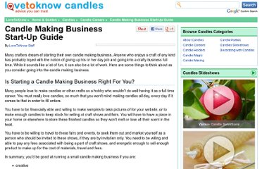 http://candles.lovetoknow.com/Candle_Making_Business