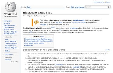 http://en.wikipedia.org/wiki/Blackhole_exploit_kit