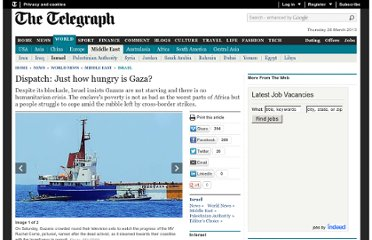 http://www.telegraph.co.uk/news/worldnews/middleeast/israel/7806209/Dispatch-Just-how-hungry-is-Gaza.html