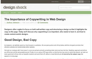 http://designshack.net/articles/business-articles/the-importance-of-copywriting-in-web-design/