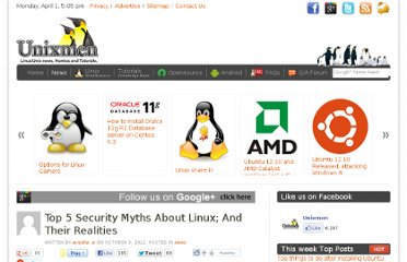 http://www.unixmen.com/top-5-security-myths-about-linux-and-their-realities/